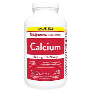 Walgreens Calcium 600 mg + D3 800 IU, Tablets