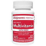 Walgreens One Daily Multivitamin With Iron, Tablets- 365 ea