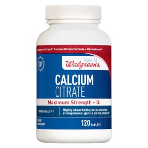 Walgreens Calcium Citrate Maximum Strength + D3, Tablets