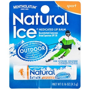 Natural Ice Medicated Lip Protectant / Sport Sunscreen SPF 30- .16 oz