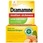 Dramamine Non-Drowsy Naturals Motion Sickness Relief Capsules- 18 ea