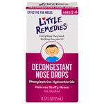 Little Noses Decongestant Nose Drops, Gentle 1/8% Formula- .5 fl oz