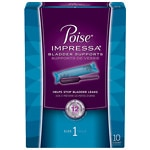 Poise Impressa Incontinence Bladder Supports, Size 1- 10 ea