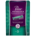 Poise Impressa Incontinence Bladder Supports, Size 3- 10 ea