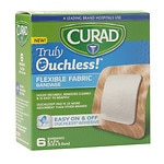 Curad Truly Ouchless Flexible Fabric Bandage, 2 x 2 inch (5 x 5 cm)- 6 ea