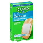 Curad Truly Ouchless Flexible Fabric Bandage, Extra Large 1.65 x 4 inch (4.19 x 10.16 cm)- 8 ea