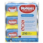 Huggies Simply Clean Wipes, Fresh- 72 ea