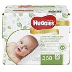 Huggies Natural Care Wipes, Fragrance Free- 368 ea