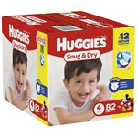 Huggies Snug & Dry Big Pack Diapers, 4- 82 ea