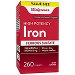 Walgreens High-Potency Iron, Ferrous Sulfate, Tablets- 260 ea