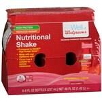 Walgreens Nutritional Shakes Reduced Sugar High Protein, Strawberry Cream, 8 oz Bottles, 6 pk- 8 oz