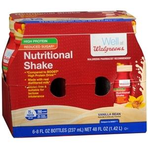 Walgreens Nutritional Shakes Reduced Sugar High Protein, Vanilla