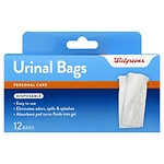 Walgreens Disposable Urinal Bag with Absorbent Pad for Men- 12 ea