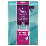 Poise Thin Shape Pads, Maximum Absorbency, Regular Length- 48 ea