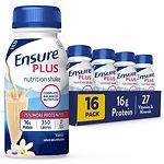Ensure Plus Shakes, Vanilla, 16 pk- 8 oz