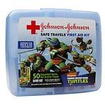 Band-Aid Safe Travels First Aid Kit, Nickelodeon Teenage Mutant Ninja Turtles, 50 Essential Items- 1 ea