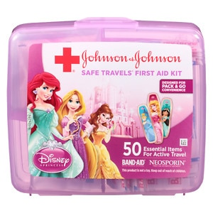 Band-Aid Safe Travels First Aid Kit, Disney Princess, 50
