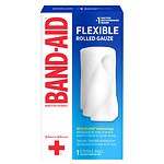 Band-Aid First Aid Rolled Gauze, Medium (3 in x 2.5 yds)- 1 ea