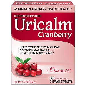 Uricalm Cranberry Plus D-Mannose, Chewable Tablets, Berry