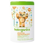 Babyganics Alcohol-Free Hand Sanitizing Wipes, Mandarin- 100 ea
