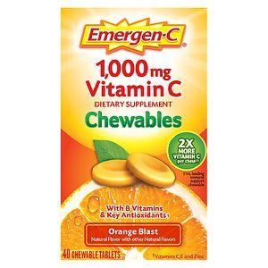 Emergen-C 1000 mg Vitamin C Chewables, Orange Blast