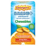 Emergen-C Immune+ with Vitamin D Chewables, Orange Blast- 42 ea