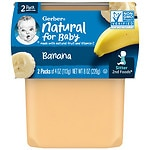 Gerber 2F Puree Tub, Bananas- 4 oz