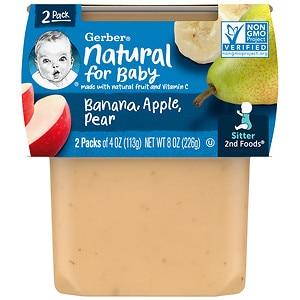 Gerber 2F Puree Tub, Bananas with Apples & Pears
