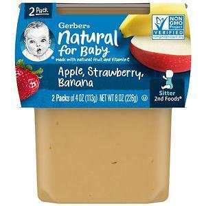 Gerber 2F Puree Tub, Apple Strawberry Banana