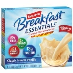 Carnation Breakfast Essentials Complete Nutritional Drink, No Sugar Added, Packets, Classic French Vanilla- 8 ea