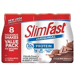 SlimFast Ready to Drink Meal Replacement Shake, 8 pk, Creamy Milk Chocolate- 11 oz