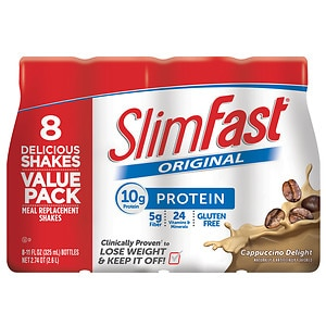 SlimFast Ready to Drink Meal Replacement Shake, 11 oz Bottles, 8