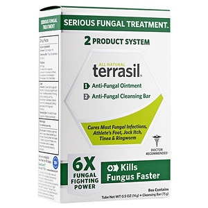 Terrasil Rapid-Clear Anti-Fungal Ointment Plus Medicated Cleansing Bar