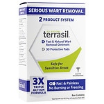 Terrasil Fast & Natural Wart Removal Ointment Plus 30 Protective Wart Pads- 1 ea