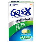 Gas-X Antigas Chewable Tablets, Extra Strength, Peppermint- 48 ea