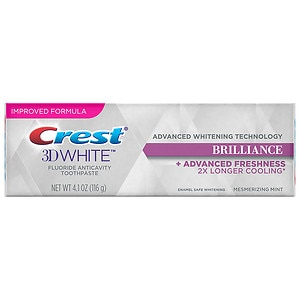 Crest 3D White Brilliance Teeth Whitening Toothpaste, Mesmerizing