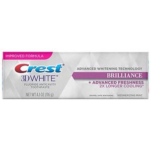 Crest 3D White Brilliance Teeth Whitening Toothpaste, Mesmerizing Mint