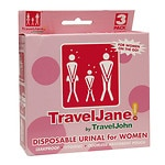 TravelJohn TravelJane Disposable Urinal for Women, 3 pk- 1 ea