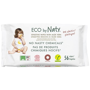 Naty by Nature babycare Eco Sensitive Wipes, Aloe, 56 ct