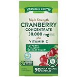 Nature's Truth Ultra Triple Strength Cranberry Concentrate 15,000mg Plus Vitamin C- 90 ea