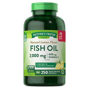 Nature's Truth Fish Oil 1000mg, Lemon
