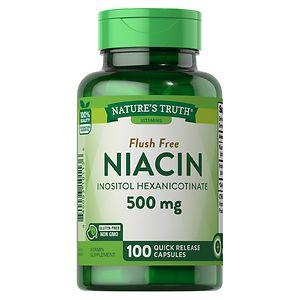 Nature's Truth Flush Free Niacin Inositol Hexanicotinate 500mg