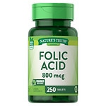 Nature's Truth Folic Acid 800mcg- 250 ea