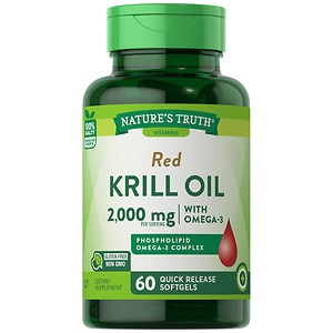 Nature's Truth 100% Pure Red Krill Oil 1000mg Omega-3