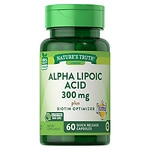 Nature's Truth Alpha Lipoic Acid 300mg Plus Biotin Optimizer, Capsules- 60 ea
