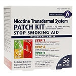 Habitrol Nicotine Transdermal System Stop Smoking Aid Patch Kit, Steps 1,2,3- 56 ea