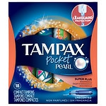 Tampax Pearl Tampons Pocket, Super Plus- 18 ea