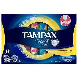 Tampax Pearl Tampons Pocket, Regular