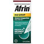 Afrin No Drip 12 Hour Pump Mist, Severe Congestion- .5 fl oz
