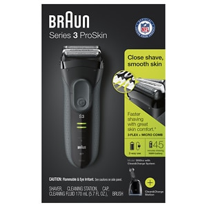 Braun Series 3 3050 Shaver with Cleaning Center, 1 ea